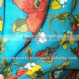 voile fabrics mulmul printed floral jaipur terquise screen prints spring summer prints fabrics for garments curtains skirtspareo