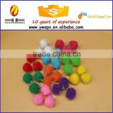 Wholesale Colorful Craft Artificial Decoration Glitter Pom Pom For Kids