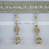 wholesale plastic stone beads tassels,polyester accessories for curtains