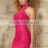 (MY9345) MARRY YOU Sexy High Neck Halter Lace Beaading Latest Party Dress Designs For Ladies Short