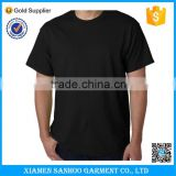 100% Cotton Wholesale XXL Black T Shirt Screen Printing No Label