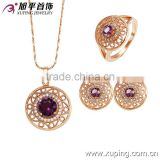 Rose Color Crystal Bridesmaid Clear Necklace Earrings Colorful Zircon Wedding Jewelry Set