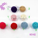 WOV1432 Wholesale Handmade 20mm Fashion Stock DIY Ball Knitting Crochet Woven Beads For Jewelry Making                                                                         Quality Choice