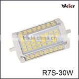 High Lumen 3000LM 30W R7S LED Lamp, 118MM R7S LED 30W r7s flood led light