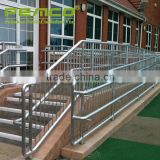 High grade hairline finish 304 316 glass clear retractable stainless steel customized fancy balcony railing