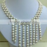 2014 New design colorful pearl bead necklace