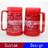 2016 Plastic Double Wall Freezer Beer Mug