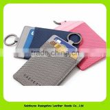 OEM Cartoon Blank Luggage Tags Business Card Holder With Metal Ring Hook 16452