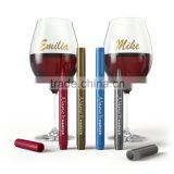 Gold and Silver wine Bottle and wine glass Metallic Marker Pen with blister Card
