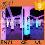 hot sale New Design outdoor event colorful inflatable led pillar light, inflatable led column for party wedding decoration