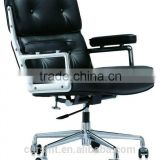 High Quality Ergonomic Executive Middle Back Leather Office Lobby Chair/Office Waiting Chair in genuine leather