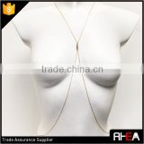 Crystal Pendant Simile 2 Layered Gold Body Chain