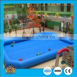 PVC plastic blue color above ground portable large inflatable swimming pools