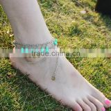 Hot foot jewelry multilayer chain barefoot sandals