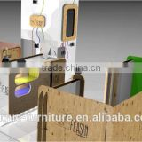 new design high quatily 3D photos print kiosk and photos display showcase in shopping mall