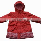 Children Sports outwear hooed jacket child winter jacket