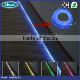 10mm Side glow fiber optic lighting cable for decoration and illumination
