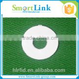 China Suppliers Low Price Round Ring Rfid Nfc label sticker Tag With A Hole for DVD/book management