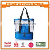 Sedex piller 4 BSCI coca cola audit factory Beach Picnic Outdoor Mesh cooler tote bag for wholesale