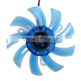 Blue Video Card Replacement 75mm Fan 43mm Mounting Hole Distance for Computer PC