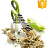 Hot Selling Eco-friendly 100% FDA Cooking Tools Kitchen Stainless steel 5-Blade Herb Scissors