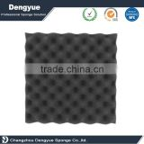Easy installation Pu sponge material black grey white color wave soundproof acoustic foam panels