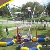 new trampoline bungee with inflatable bounce