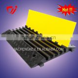 Yellow and black Rubber cable tray
