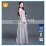 Latest Design Grace Woman Pleats Tulle Evening Dresses for Bridesmaids Dresses