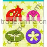 Felt iron on fabric colorful patch animal butterfly flower beetle fashion accessories