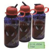 K116 450ML Hot Selling Kids Water Bottle With Suction Nozzle And Straw Portable Drinking Bottle