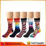 Hot selling Christmas Kawaii Funny Sock Stripes Argyle Colorful Men's Dress Socks made in China