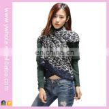 2016 Fashion winter fringes knitted leopard pattern women jacquard warm poncho For Lady New Cloak Shawls