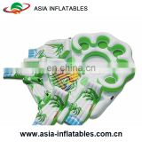 10 Person Inflatable Water Raft Pool Tropical Tahiti Ocean Floating Island, Large inflatable water islands