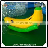 Commercial popular inflatable banana water seesaw, floating water seesaw for promotion