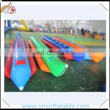 Customized pvc floating inflatable banana boat , inflatable banana flying fish, inflatable surfing floating boat for water game
