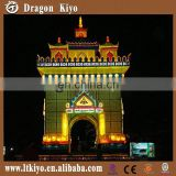 2016 large chinese silk lantern castle lanterns lighting city