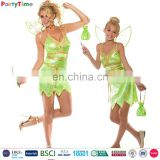wholesale halloween carnival costumes adult kids green elf fairy party cosplay costume