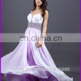 Long Chiffon Evening Gowns Formal Party Ball Gown Prom Dress evening dresssweat heart chiffon evening dress