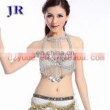 Ballroom beautiful Sequins belly dance beaded tassel bra YD-028#