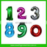 Numbers shaped foil balloons