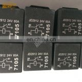 Auto parts black relay 24v 80a 4pins jd2912  waterproof car relay for sale