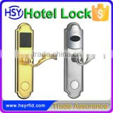 HSY-218 Security temic 5567 t5557 t5577 card lock door intelligent hotel lock with handle