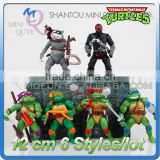 MINI QUTE 12 cm 6 characters anime figure teenage mutant ninja turtles ninjago action figures brinquedos boys toys NO.MQ 118