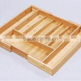 Bamboo Extenable Cutlery Tray