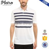2016 OEM Wholesale Mens Golf Transition Stripe Polo Shirts                                                                         Quality Choice