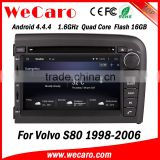 Wecaro WC-VL7061 Android 4.4.4 car multimedia system double din for volvo s80 car radio audio system GPS 1998-2006