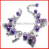 fashion purple charm dolphin bracelet