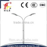 40W and 40W double arms electric led street light with spining processing aluminum lighting pole