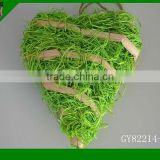 2014natural material green heart shape crafts for home deco
